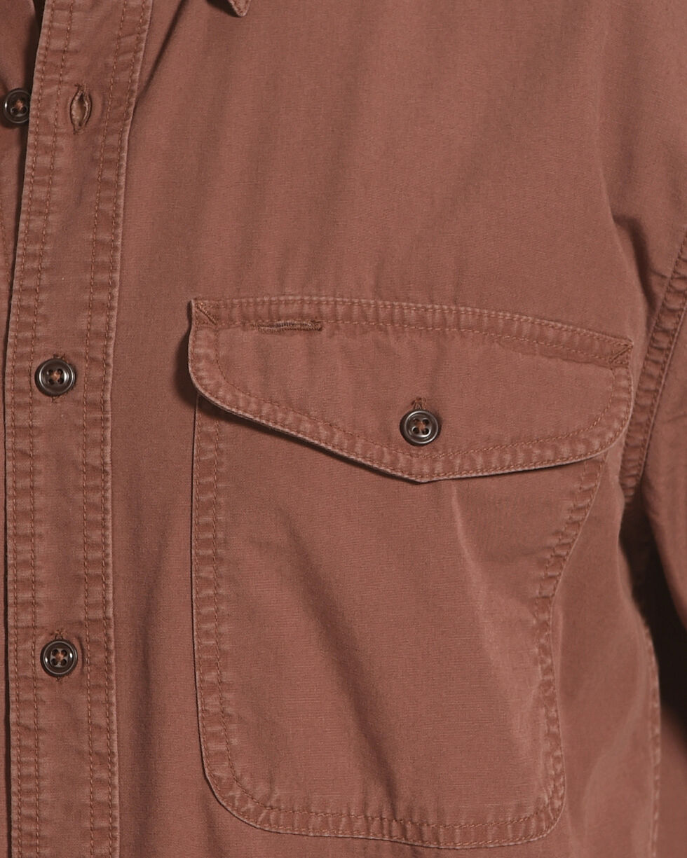 Filson Men's Burgundy Short Sleeve Field Shirt , Burgundy, hi-res