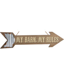 Giftcraft My Farm, My Rules Arrow Wall Sign , , hi-res