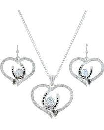Montana Silversmiths Blacksmith's Treasure Heart Jewelry Set , , hi-res