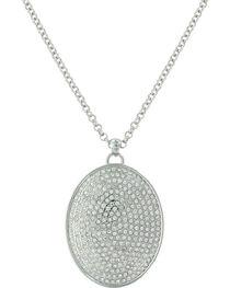 Montana Silversmiths Women's Silver Beyond Shine Pave Necklace , , hi-res