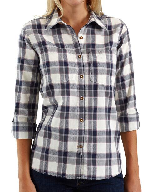 Carhartt Women's Fairview Plaid Shirt , Medium Green, hi-res