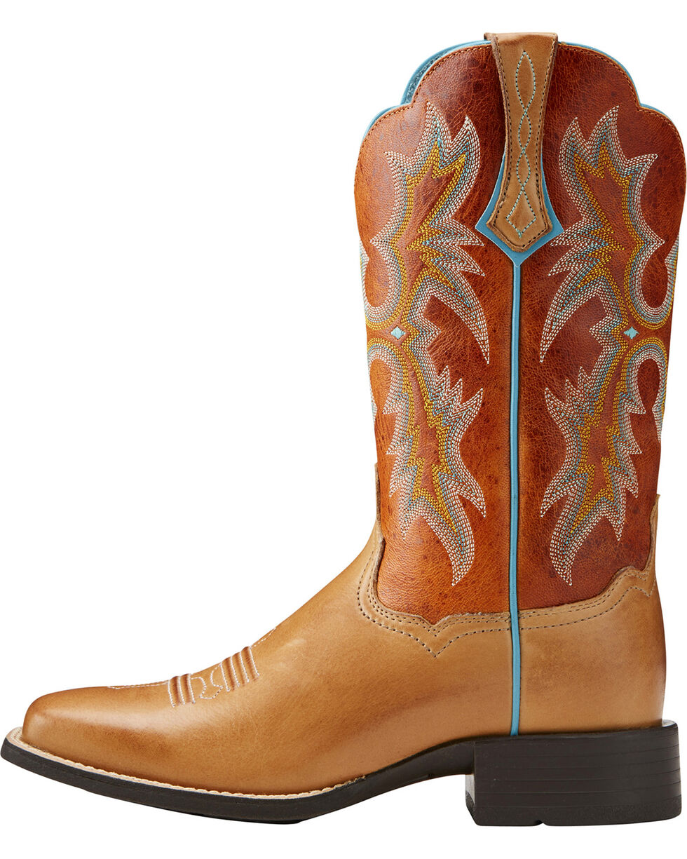 Ariat Women's Tombstone Tack Room Cowgirl Boots - Square Toe, Honey, hi-res