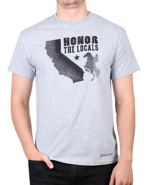 Pendleton Men's California Locals T-Shirt, Heather Grey, hi-res