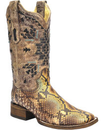 Corral Women's Aztec Python Exotic Boots, , hi-res