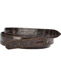 Lucchese Men's Cigar Alligator Leather Belt, , hi-res