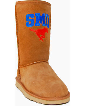 Gameday Boots Women's Southern Methodist University Lambskin Boots, Tan, hi-res