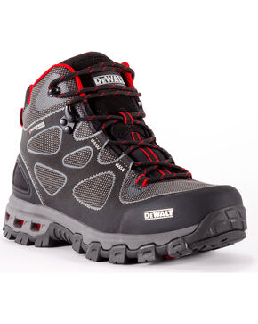DeWalt Men's Lithium Waterproof Athletic Work Boots - Steel Toe, Red, hi-res