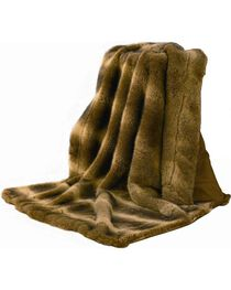 HiEnd Accents Faux Fur Throw Blanket, , hi-res