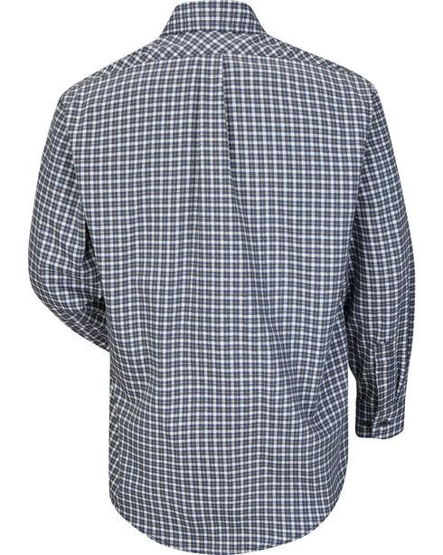 Bulwark Men's Navy Plaid Flame Resistant Uniform Shirt , Navy, hi-res