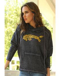 Wrangler Women's Logo Hooded Fleece Top, , hi-res
