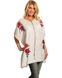 Johnny Was Women's Selena V-Neck Poncho , , hi-res