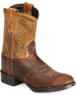 Jama Toddler's Western Boots, Brown, hi-res