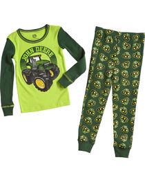 John Deere Infant Boys' Green Tractors Pajama Set , , hi-res