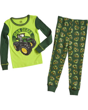 John Deere Infant Boys' Green Tractors Pajama Set , Green, hi-res