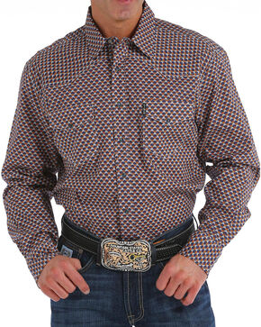 Cinch Men's Modern Fit Multi Print Long Sleeve Western Shirt, Purple, hi-res