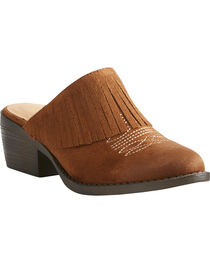 Ariat Women's Unbridled Shirley Brown Mules - Round Toe, , hi-res