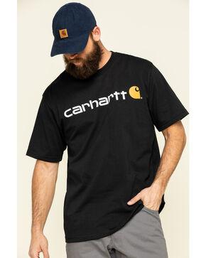 Carhartt Men's Short-Sleeve Logo T-Shirt, Black, hi-res