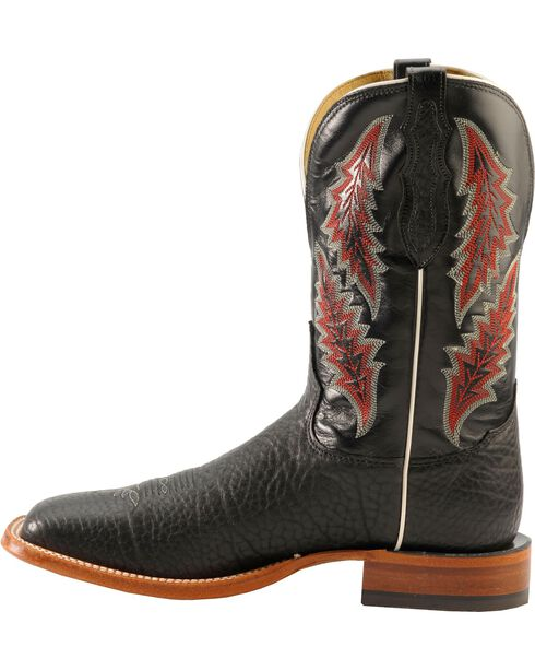 Tony Lama Men's Bull Hide Square Toe Western Boots, Black, hi-res