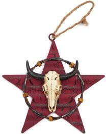 BB Ranch Metal Star and Cow Skull Ornament, , hi-res