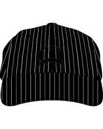 Cinch Black and White Pinstripe Cap, , hi-res