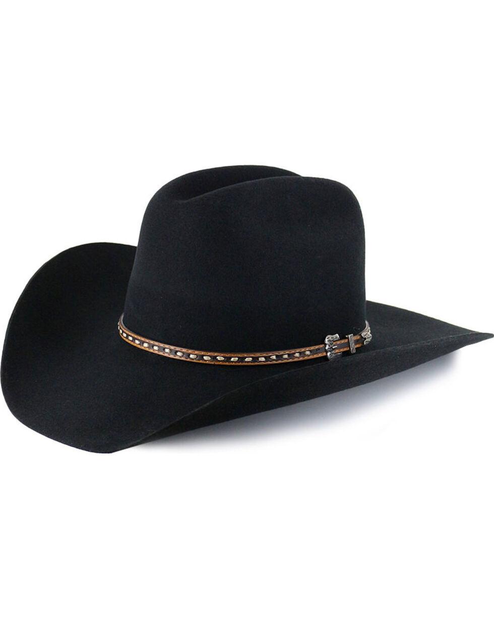 Cody James Men's 3X Wool Hat, Black, hi-res