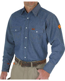 Wrangler Flame Resistant Western Work Shirt - Tall, , hi-res