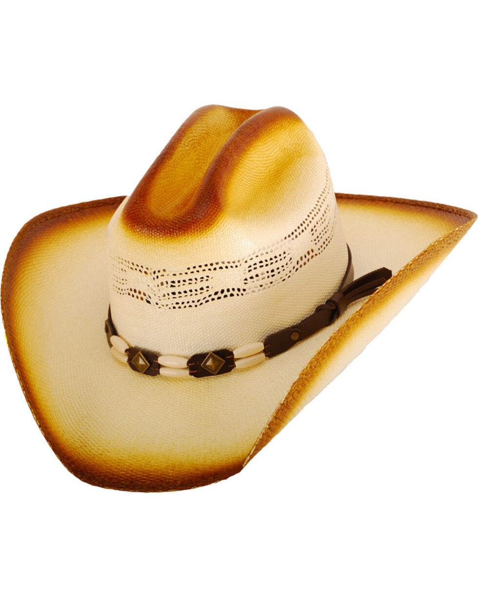 Western Express Men's Cameron Straw Cowboy Hat, Tan, hi-res