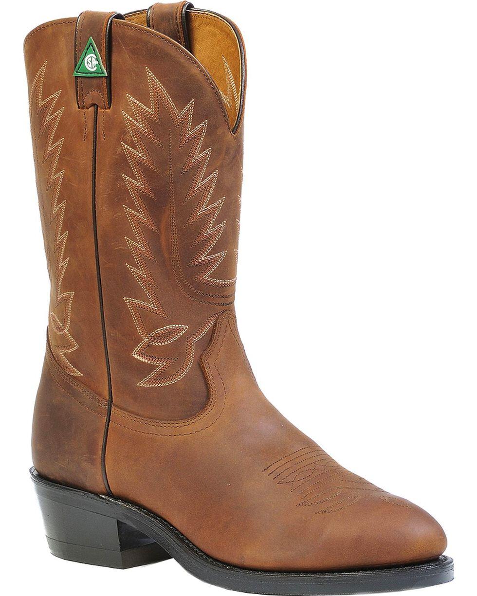 Boulet Vibram Pull-On Work Boots - Steel Toe, Apache Tan, hi-res