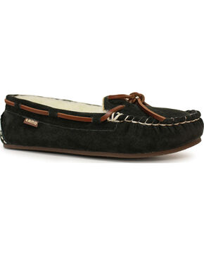 Lamo Footwear Women's Britain Moccasins, Black, hi-res