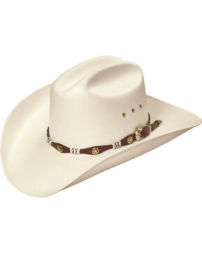 Master Hatters of Texas Captain 20X Natural Straw Cowboy Hat, Natural, hi-res