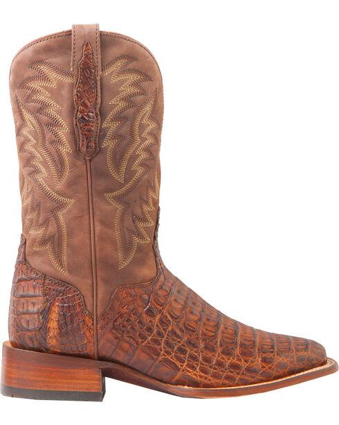 El Dorado Men's Caiman Back Brass Stockman Boots - Square Toe, Bronze, hi-res