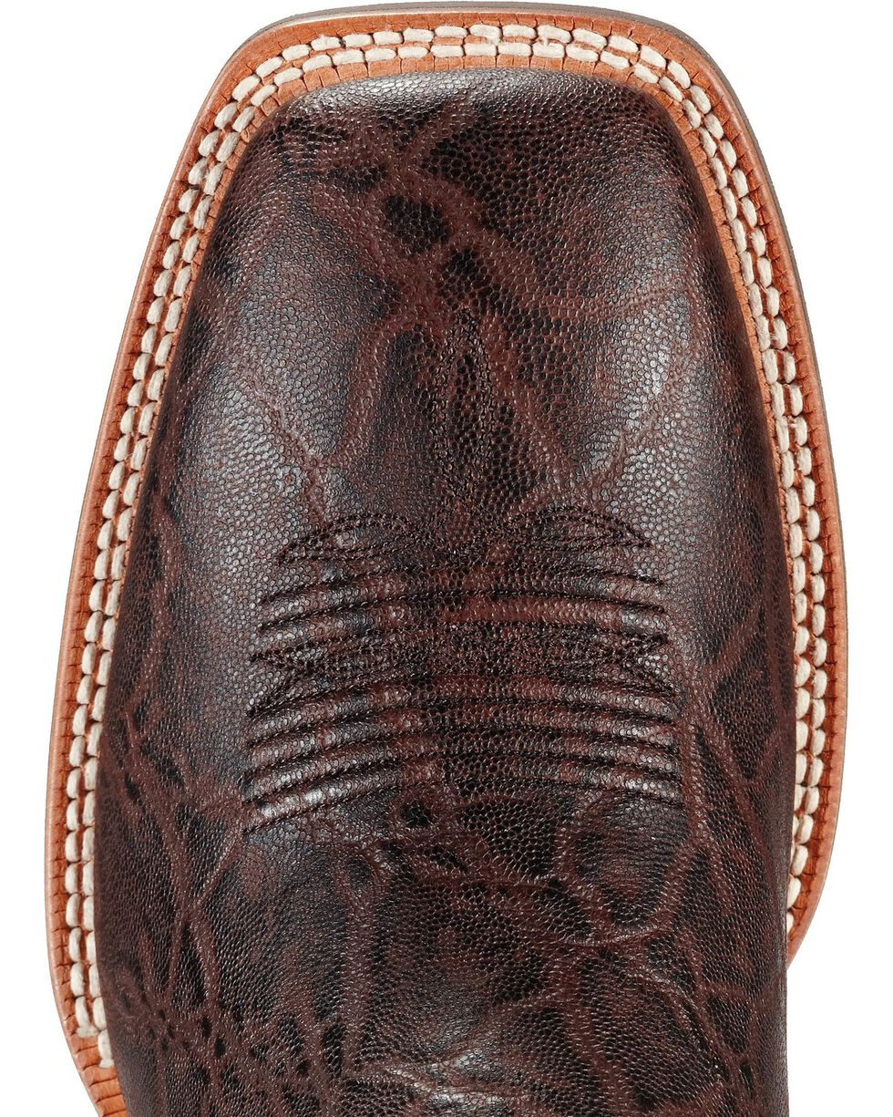 Ariat Men's Quickdraw Elephant Print Western Boots, Chocolate, hi-res
