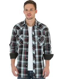 Wrangler 20X Plaid Snap Long Sleeve Shirt, , hi-res