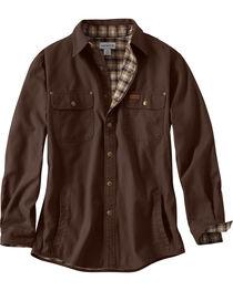 Carhartt Men's Weathered Canvas Shirt Jacket, , hi-res