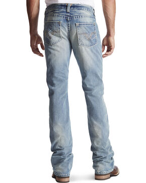 Ariat Men's M6 El Dorado Low Rise Boot Cut Jeans, Denim, hi-res