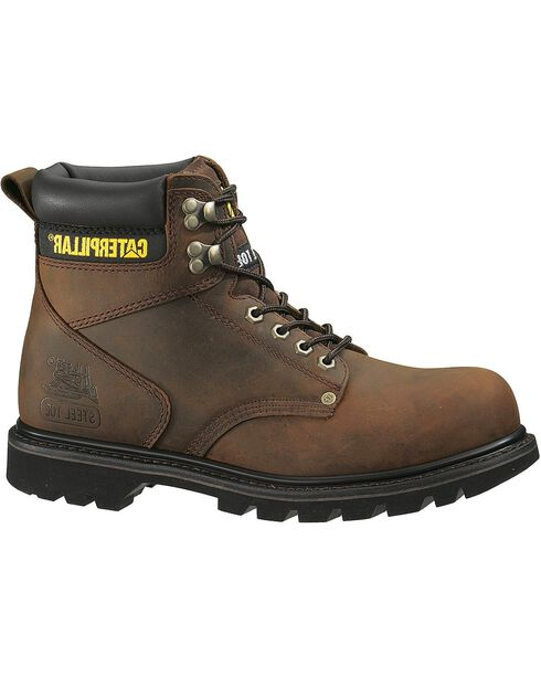 "Caterpillar 6"" Second Shift Lace-Up Work Boots - Steel Toe, , hi-res"