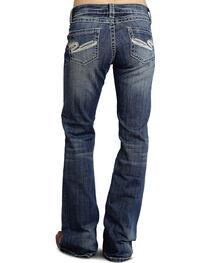 "Stetson Women's 816 Fit White ""S"" Stitch Bootcut Jeans, , hi-res"