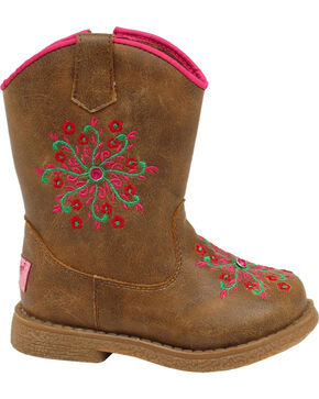 Blazin Roxx Toddler Girls' Lil' Savvy Boots - Round Toe, Brown, hi-res