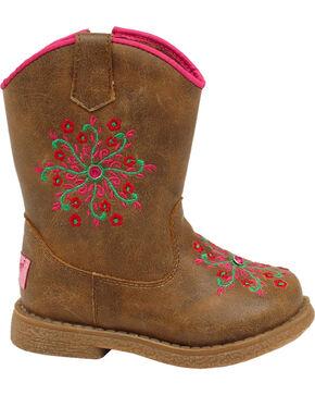 Blazin Roxx Toddler Girls' Lil' Savvy Boots - Round Toe, Brown, hi-res