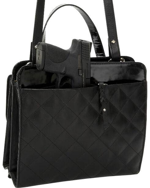 Designer Concealed Carry Quilted Newport Crossbody Bag, Black, hi-res