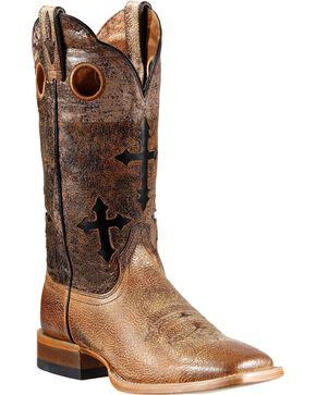 Ariat Men's Ranchero Western Boots, Sand, hi-res