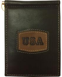 Danbury Men's Brown Leather Money Clip Wallet, , hi-res