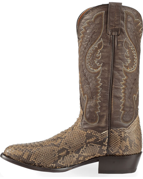 Dan Post Omaha Python Cowboy Boots - Medium Toe , Brown, hi-res
