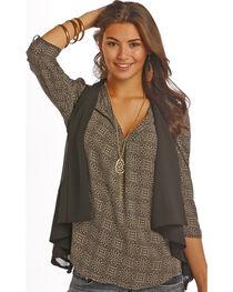 Rock & Roll Cowgirl Women's Black Mesh Vest , , hi-res