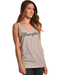 Wrangler Women's Heather Grey Logo Tank, , hi-res