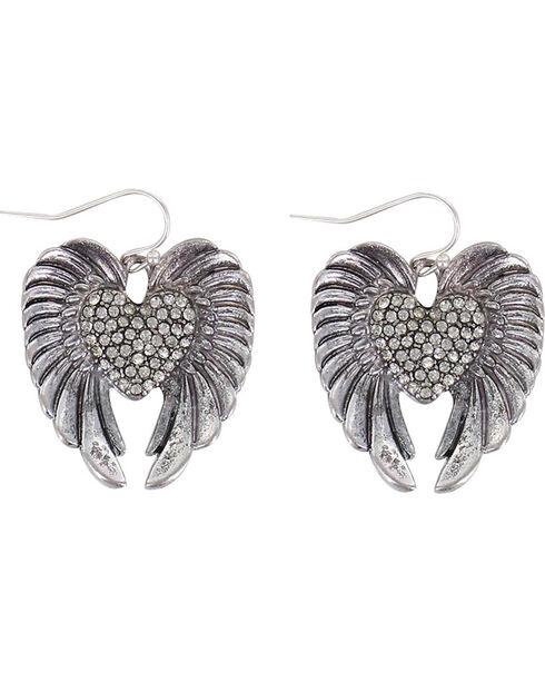 Shyanne® Women's Let Love Soar Earrings , Silver, hi-res
