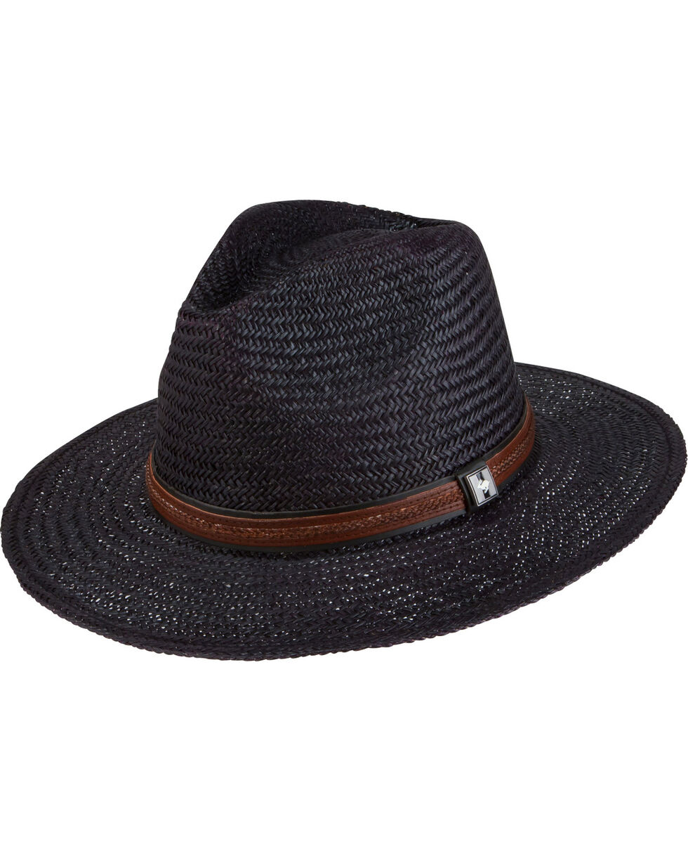 Peter Grimm Men's Black Radcliff Flat Brim Hat , Black, hi-res