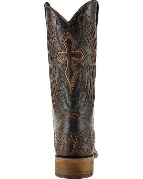 Corral Men's Square Toe Wing and Cross Western Boots, Brown, hi-res