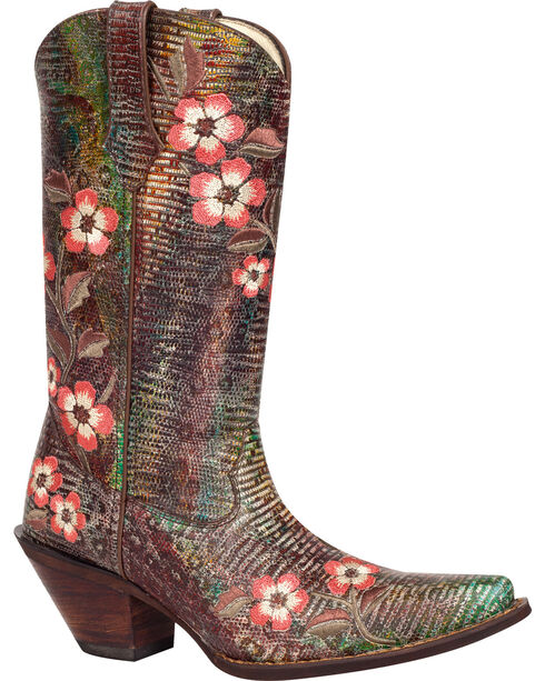 Durango Women's Floral Bouquet Western Boots, , hi-res