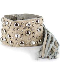 Shyanne® Women's Rhinestone Studded Fringe Bracelet, , hi-res